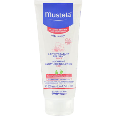 Mustela Baby Soothing Moisturizing Body Lotion For Very Sensitive Skin 6.76 fl oz (200 ml)