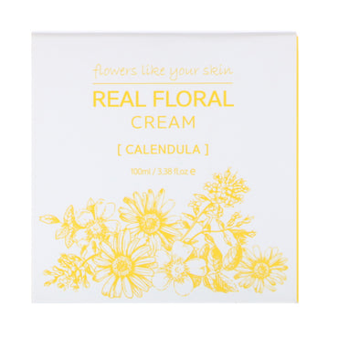 Nacific, Real Floral Cream, Calendula, 3.38 fl oz (100 ml)