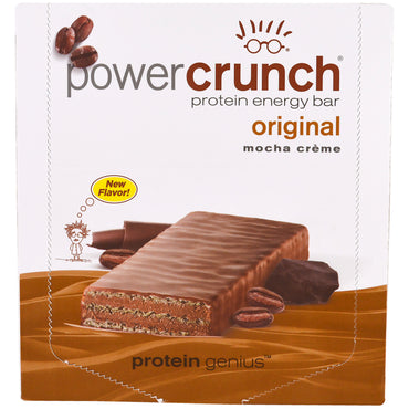 BNRG Power Crunch Protein Energy Bar Original Mocha Creme 12 Bars 1.4 oz (40 g) Each