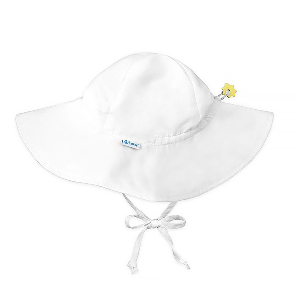 iPlay Inc., Sun Protection Hat, UPF 50+, White, 2-4 Years, 1 Hat