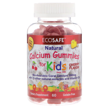 CORAL LLC, Calcium Gummies for Kids, Cherry Flavor, 60 Gummies