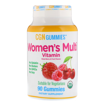 California Gold Nutrition, Women's Multi Vitamin Gummies, No Gelatin, No Gluten, Organic Mixed Berry and Fruit Flavor, 90 Gummies