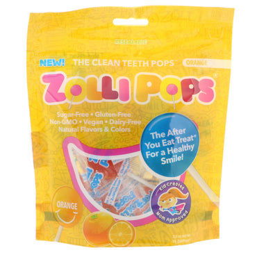 Zollipops  The Clean Teeth Pops Orange 15 ZolliPops 3.1 oz