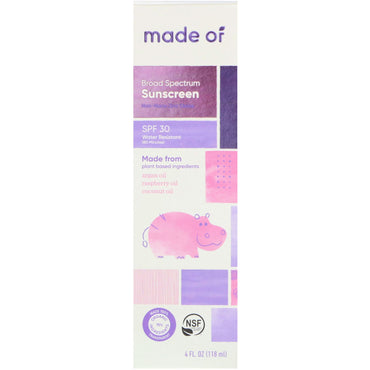 MADE OF Broad Spectrum Sunscreen SPF 30 4 fl oz (118 ml)