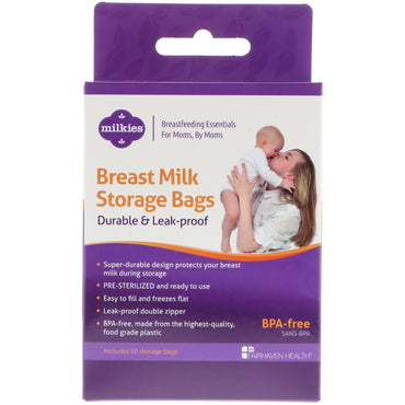 Fairhaven Health, Breast Milk Storage Bags, Durable & Leak-Proof, 50 Storage Bags