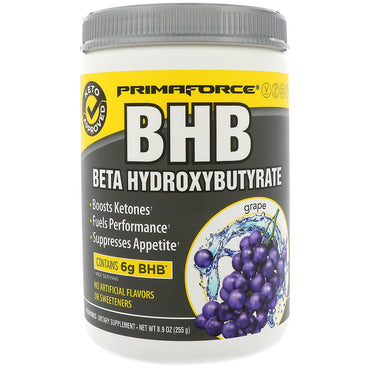 Primaforce, BHB, Beta Hydroxybutyrate, Grape, 8.9 oz (255 g)