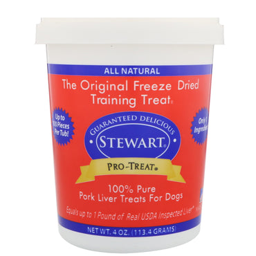Stewart, Pro-Treat, Freeze Dried Treats, For Dogs, Pork Liver, 4 oz (113.4 g)