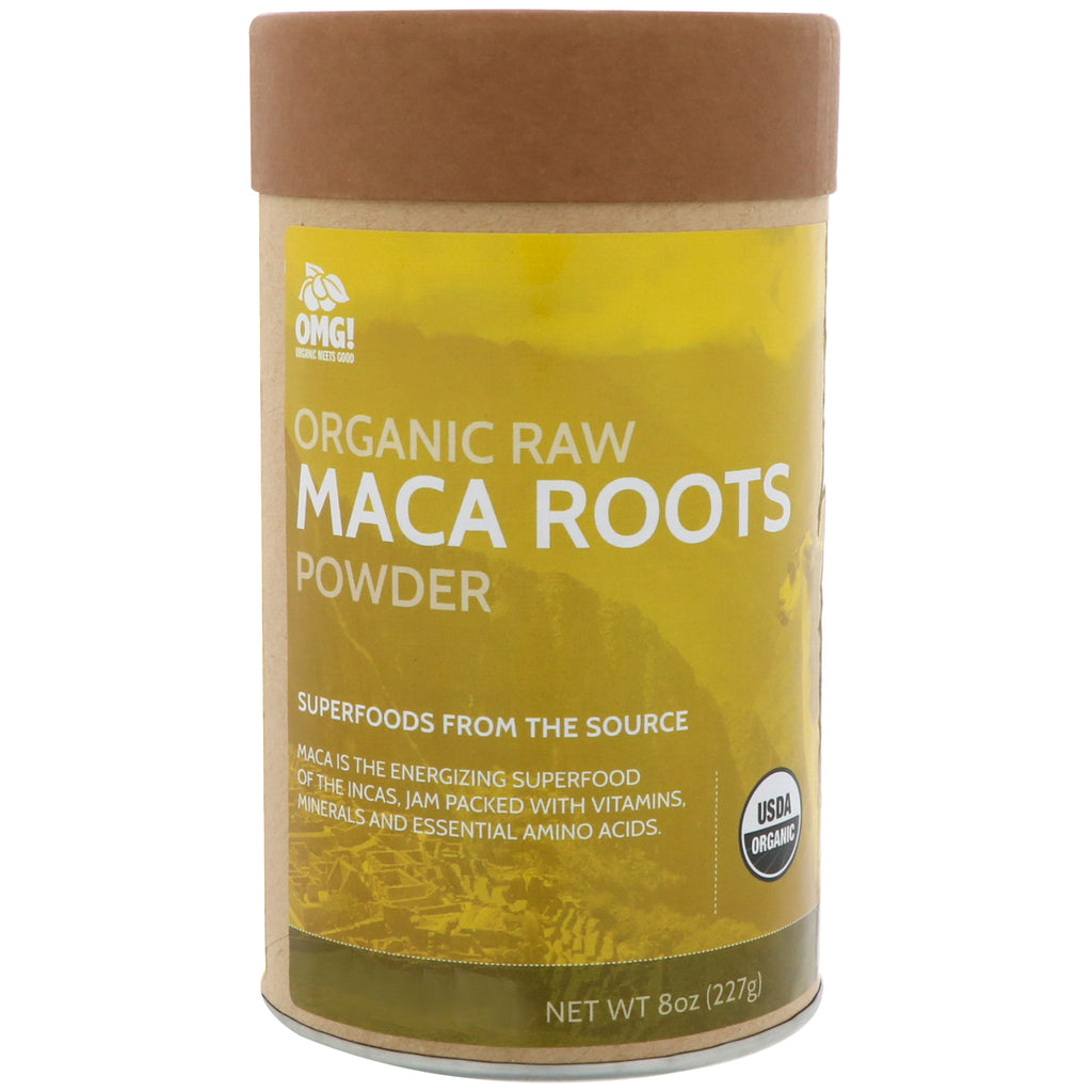 OMG! Food Company, LLC, Organic Raw, Maca Roots Powder, 8 oz (227 g)