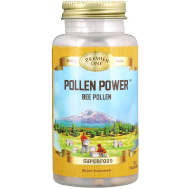 Premier One, Pollen Power Bee Pollen, 100 Capsules