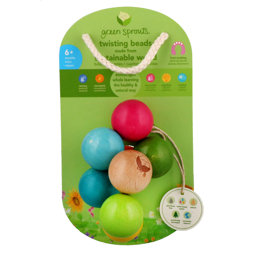 iPlay Inc., Green Sprouts, Twisting Beads, 6+ Months