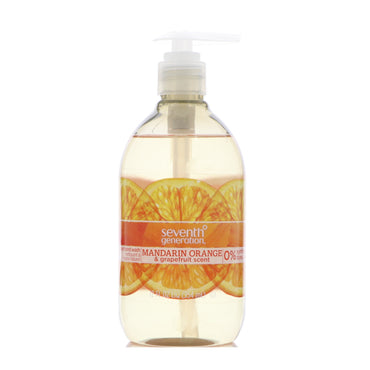 Seventh Generation, Natural Hand Wash, Mandarin Orange & Grapefruit, 12 fl oz (354 ml)