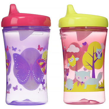 NUK, Gerber Graduates, Advance Developmental Cups, 12+ Months, Girl, 2 Cups, 10 oz (300 ml) Each