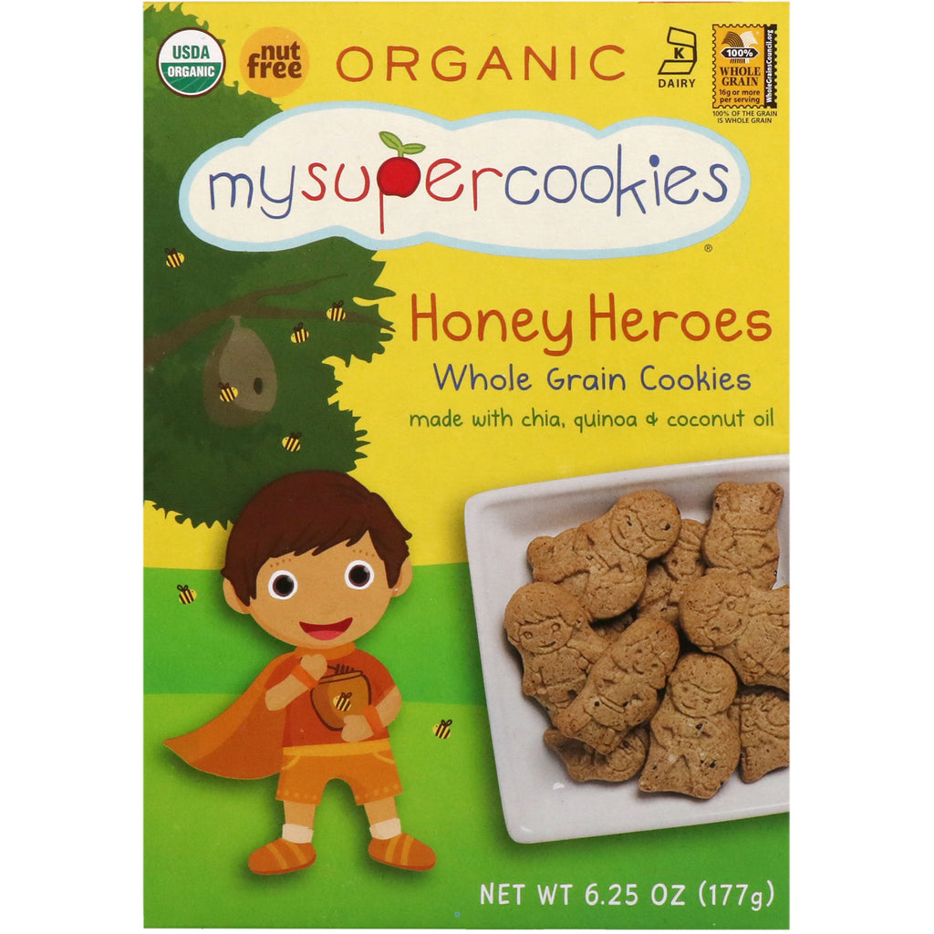 MySuperCookies Whole Grain Cookies Honey Heroes 6.25 oz (177 g)