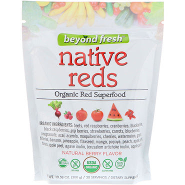 Beyond Fresh, Native Reds, Organic Red Superfood, Natural Berry Flavor, 10.58 oz (300 g)