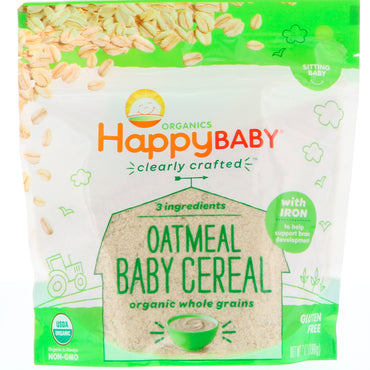 Nurture Inc. (Happy Baby) Organic Clearly Crafted Oatmeal Baby Cereal 7 oz (198 g)