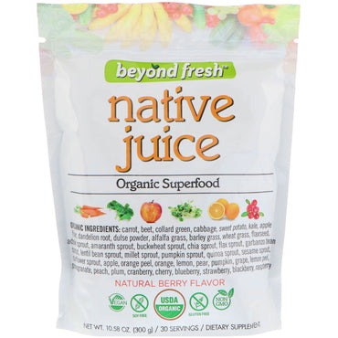 Beyond Fresh, Native Juice, Organic Superfood, Natural Berry Flavor, 10.58 oz (300 g)