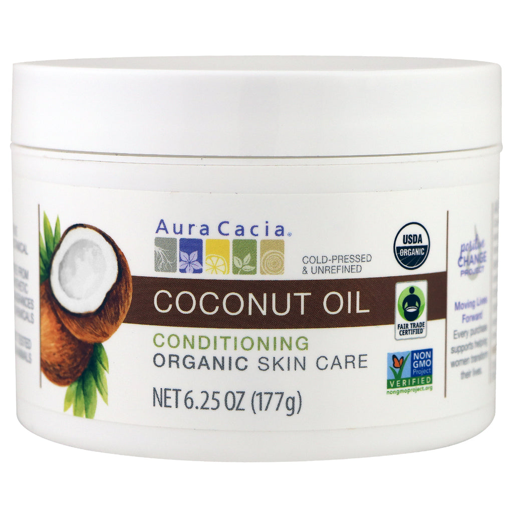 Aura Cacia, Conditioning Organic Skin Care, Coconut Oil, 6.25 oz (177 g)
