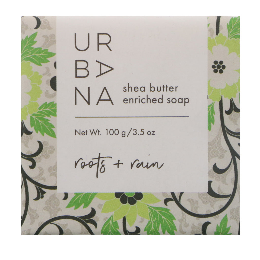 European Soaps, LLC, Urbana, Shea Butter Enriched Soap, Roots + Rain, 3.5 oz (100 g)