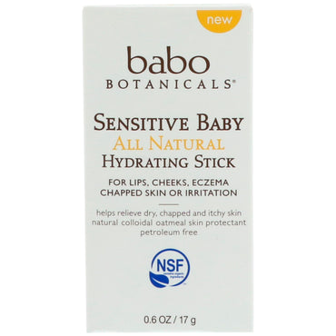 Babo Botanicals, Sensitive Baby, All Natural Hydrating Stick, 0.6 oz (17 g)