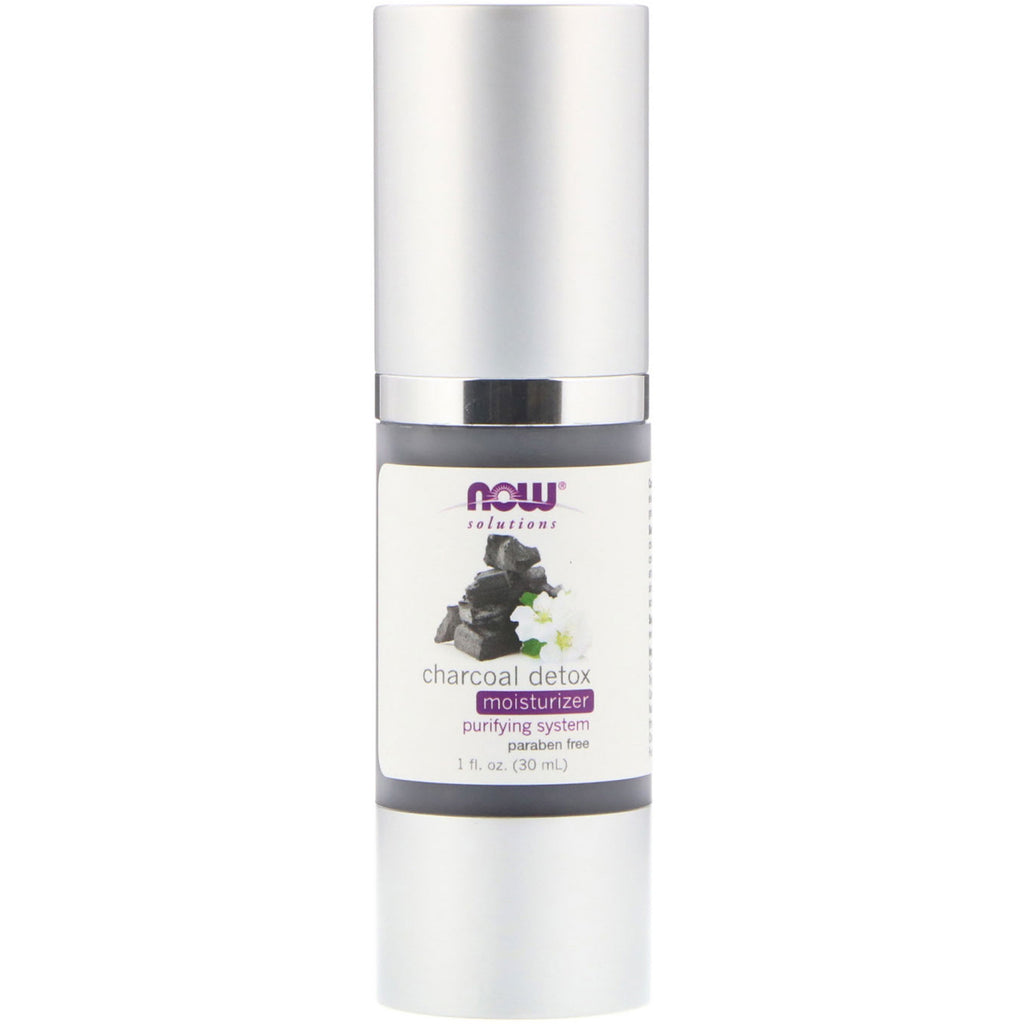 Now Foods, Solutions, Charcoal Detox Moisturizer, 1 fl oz (30 ml)