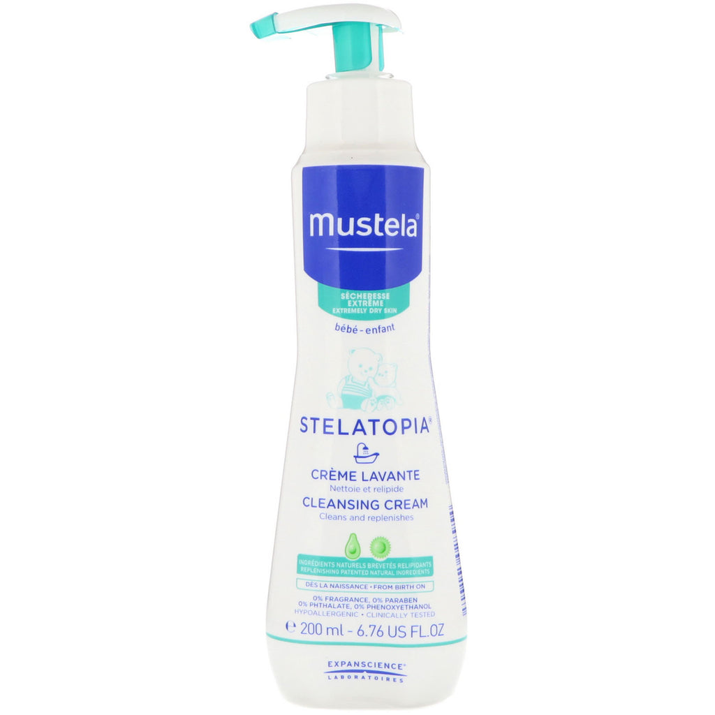 Mustela Baby Stelatopia Cleansing Cream For Extremely Dry Skin 6.76 fl oz (200 ml)