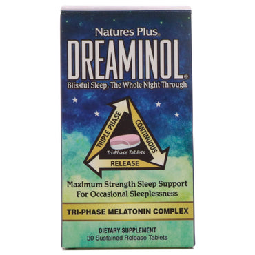 Nature's Plus, Dreaminol, 30 Sustained Release Tablets