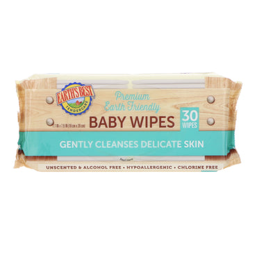 Earth's Best, TenderCare, Premium Earth Friendly, Baby Wipes, 30 Wipes