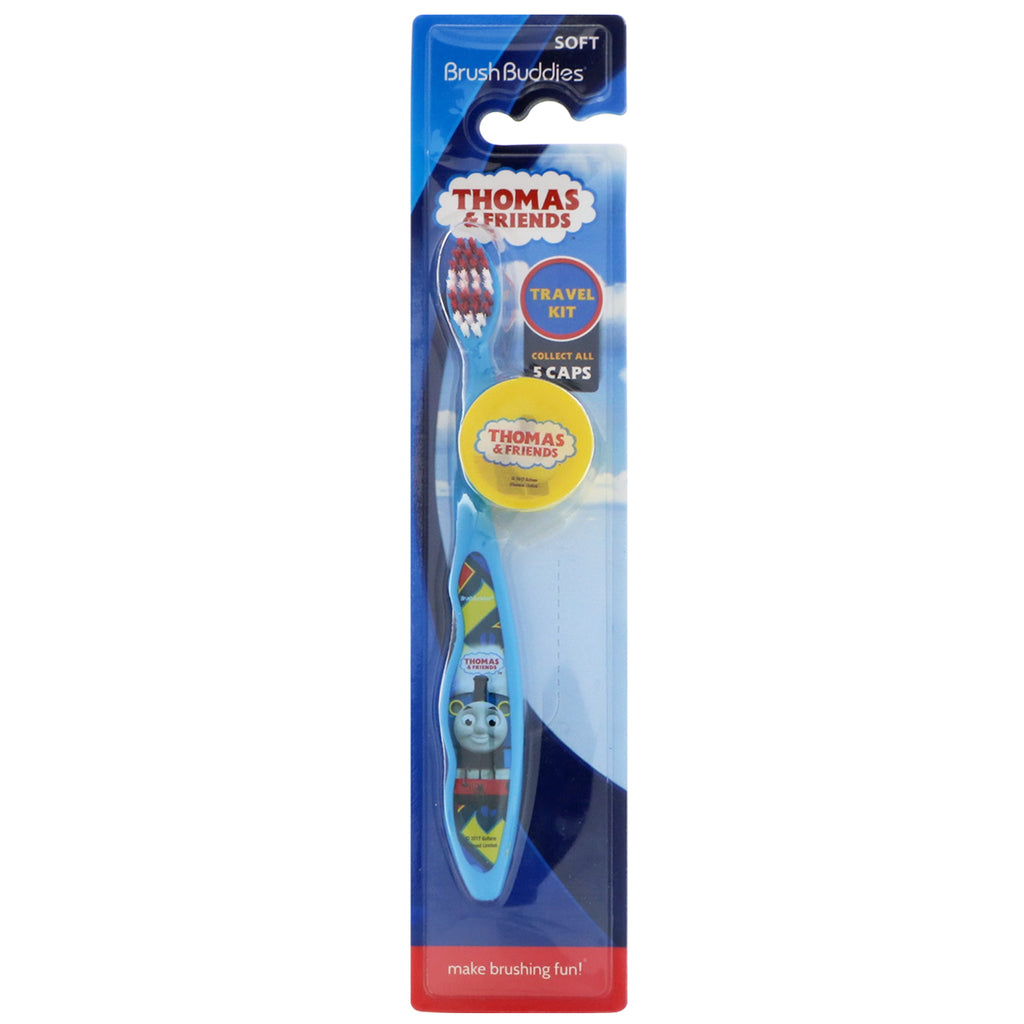 Brush Buddies, Thomas & Friends, Travel Kit, Soft, 1 Toothbrush With Cap