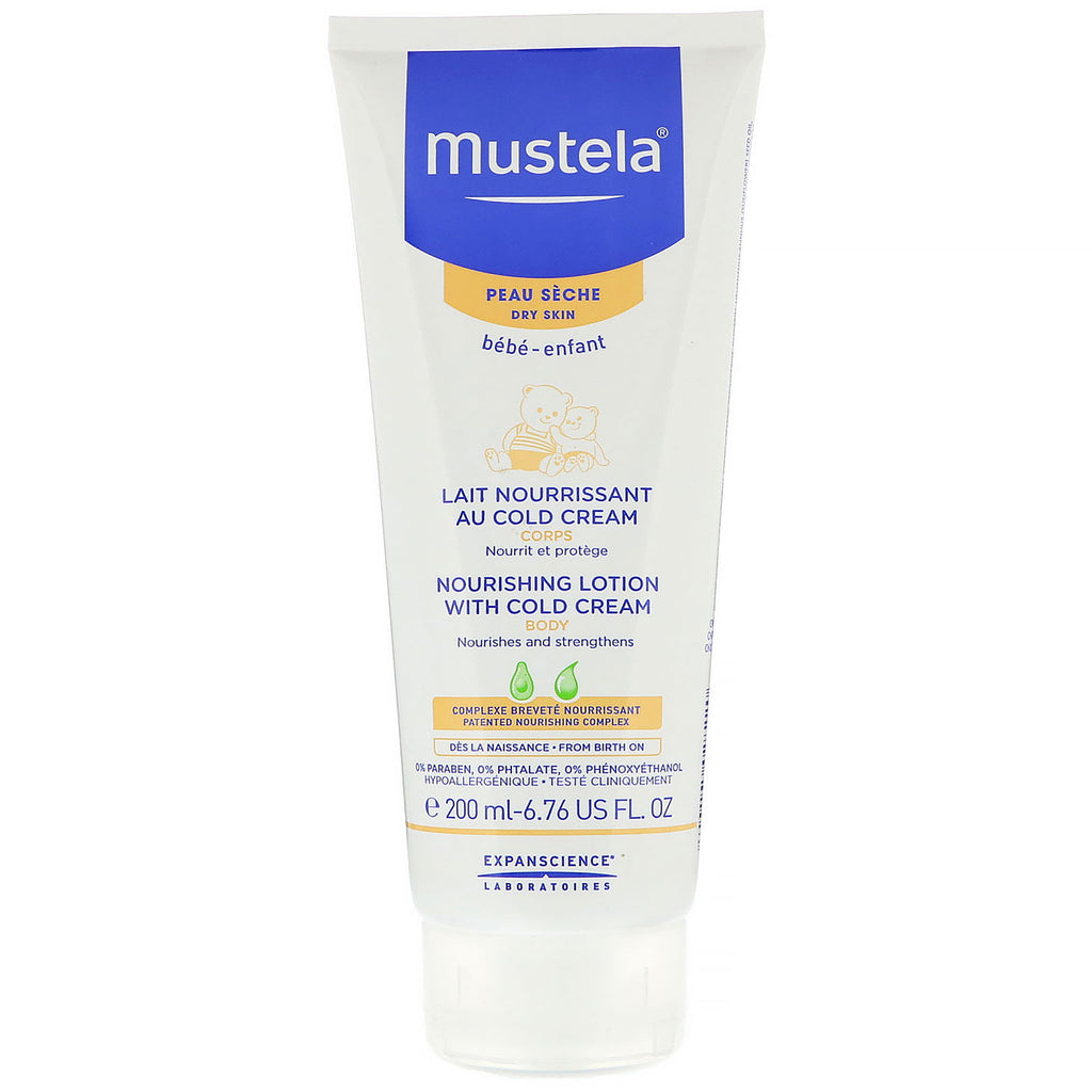 Mustela Baby Nourishing Body Lotion With Cold Cream For Dry Skin 6.76 fl oz (200 ml)