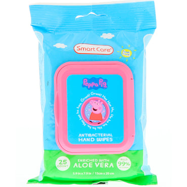 Brush Buddies Smart Care Peppa Pig Antibacterial Hand Wipes Fresh Scent 25 Count