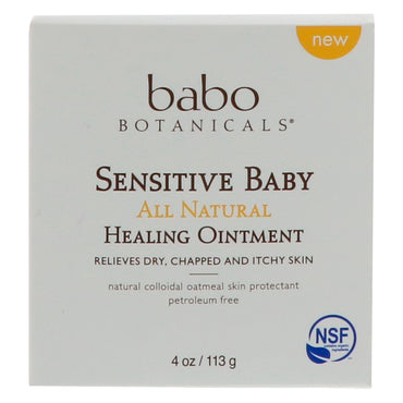 Babo Botanicals, Sensitive Baby, All Natural, Healing Ointment, 4 oz (113 g)