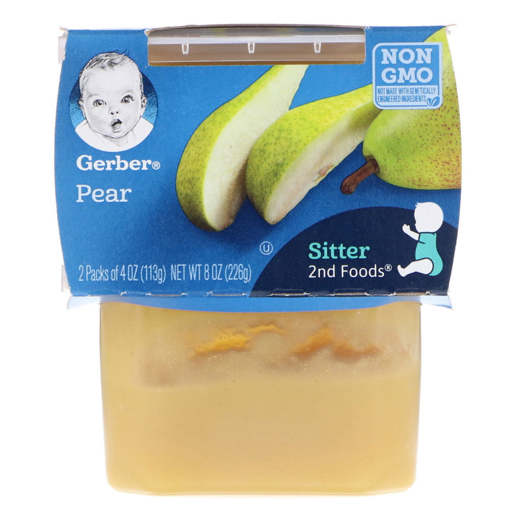 Gerber 2nd Foods Pear 2 Pack 4 oz (113 g) Each