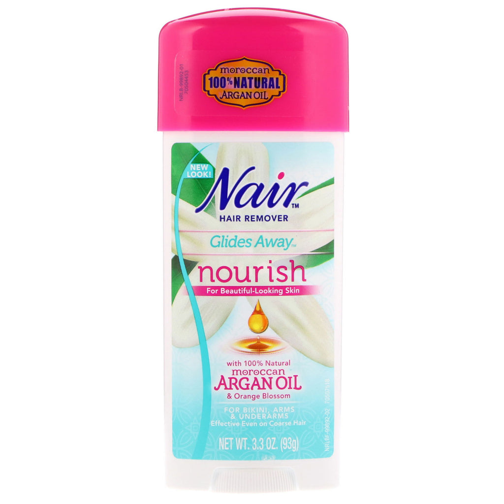 Nair , Hair Remover, Glides Away, Nourish, For Bikini, Arms & Underarms , 3.3 oz (93 g)