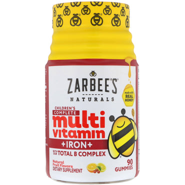 Zarbee's, Children's Complete Multivitamin + Iron, Natural Fruit Flavors, 90 Gummies