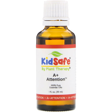Plant Therapy, KidSafe, 100% Pure Essential Oil, A+ Attention, 1 fl oz (30 ml)