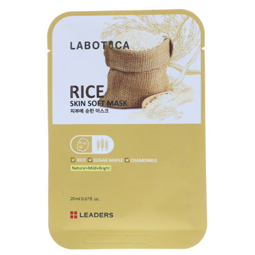 Leaders, Labotica, Rice Skin Soft Mask, 1 Mask, 20 ml