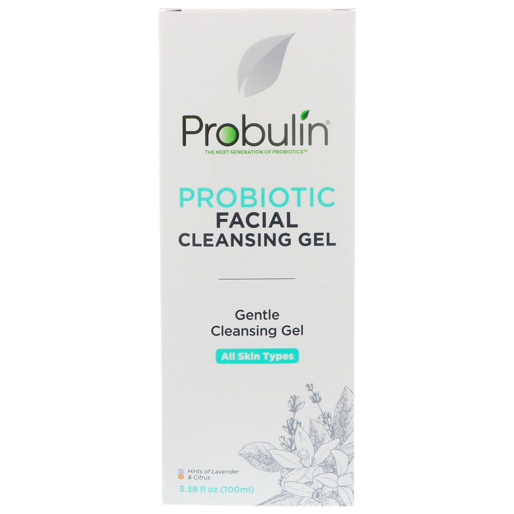 Probulin, Probiotic Facial Cleansing Gel, 3.38 fl oz (100 ml)