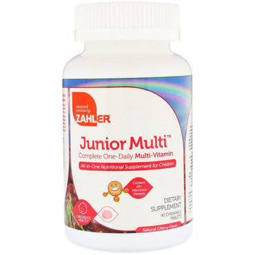 Zahler, Junior Multi, Complete One-Daily Multi-Vitamin, Natural Cherry Flavor, 90 Chewable Tablets