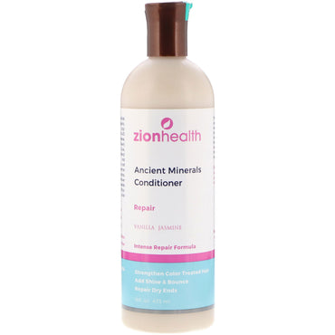 Zion Health, Ancient Minerals Conditioner, Repair, Vanilla Jasmine, 16 fl oz (473 ml)