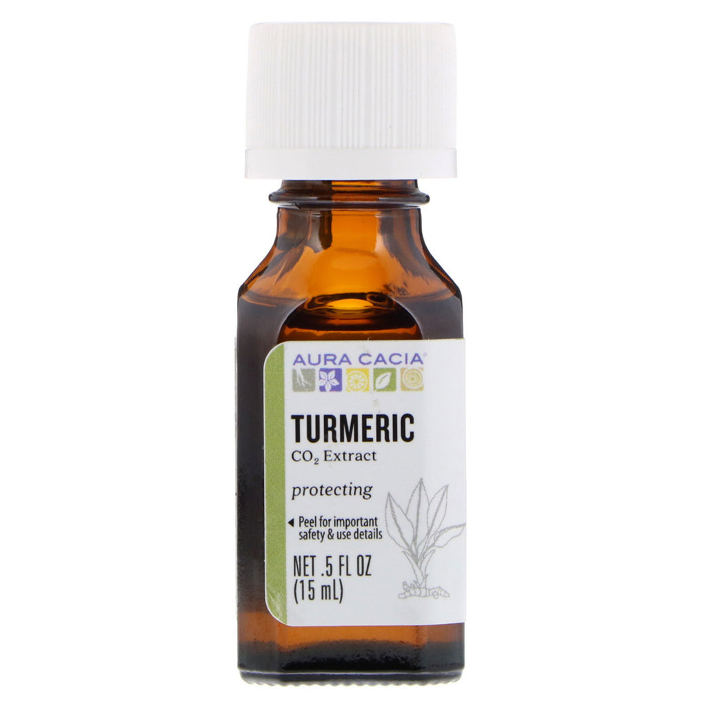 Aura Cacia, Essential Oil, Turmeric CO2 Extract, .5 fl oz (15 ml)