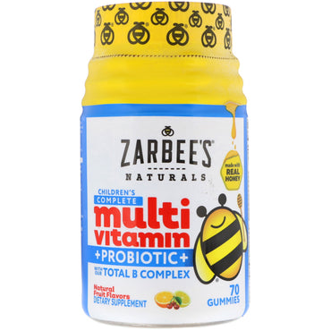 Zarbee's, Children's Complete Multivitamin + Probiotic, Natural Fruit Flavors, 70 Gummies
