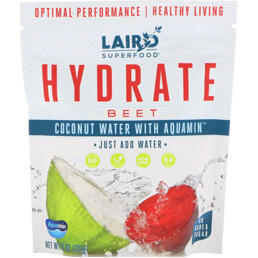 Laird Superfood, Hydrate, Coconut Water with Aquamin, Beet, 8 oz (227 g)