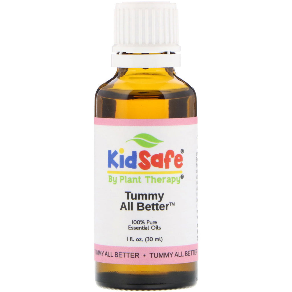 Plant Therapy, KidSafe, 100% Pure Essential Oils, Tummy All Better, 1 fl oz (30 ml)