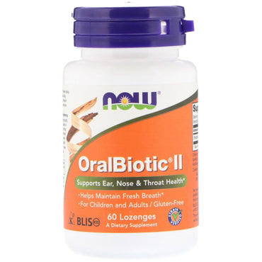 Now Foods, OralBiotic II, 60 Lozenges