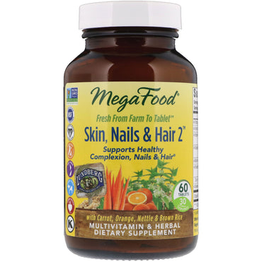 MegaFood Skin Nails & Hair 2 60 Tablets