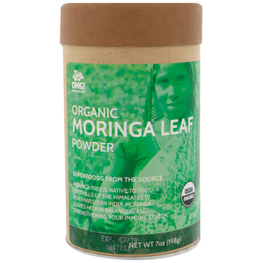 OMG! Food Company, LLC, Organic, Moringa Leaf Powder, 7 oz (198 g)