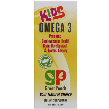 GreenPeach, Kids Omega 3, 4 fl.oz (118.3 ml)
