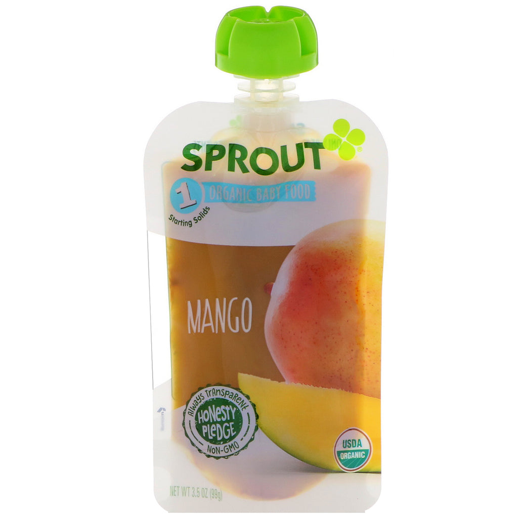 Sprout Organic Baby Food Stage 1 Mango 3.5 oz (99 g)