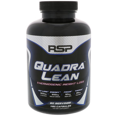RSP Nutrition, Quadra Lean, Thermogenic Weight Loss, 180 Capsules