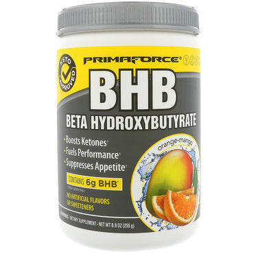 Primaforce, BHB, Beta Hydroxybutyrate, Orange Mango, 8.9 oz (255 g)